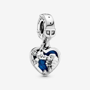 ♉Disney Lady and the Tramp Heart Dangle Charm